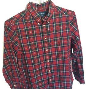 Boys Large Ralph Lauren Red Plaid Dress Shirt